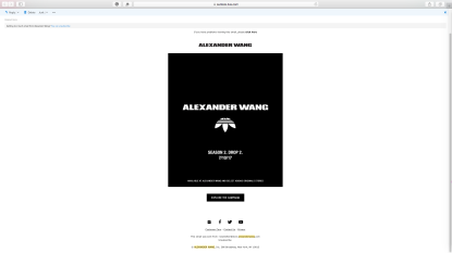 Email from Alexander Wang